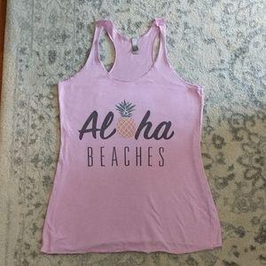 ALOHA Beaches Purple Tank Top M